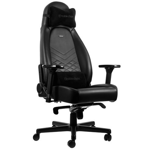 NOBLECHAIRS ICON - NEGRO / ROJO