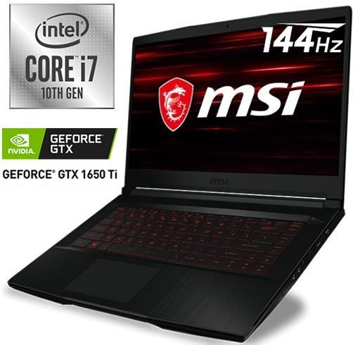 MSI GF63 THIN - I7 10750H - GTX 1650TI 4 GB